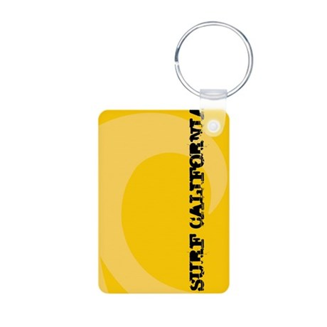 Surf California Aluminum Photo Keychain