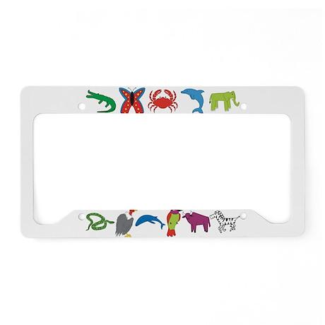 Animal Alphabet License Plate Holder