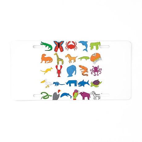 Animal Alphabet Aluminum License Plate
