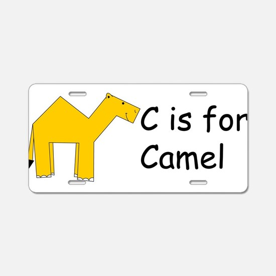 C is for Camel Aluminum License Plate