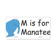 M is for Manatee Aluminum License Plate