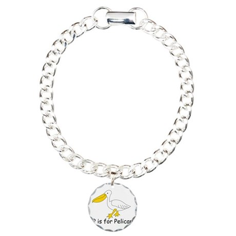 P is for Pelican Charm Bracelet, One Charm