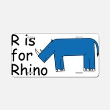 R is for Rhino Aluminum License Plate