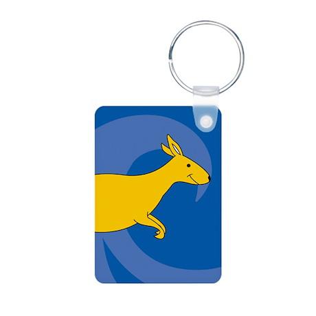 Kangaroo Aluminum Photo Keychain
