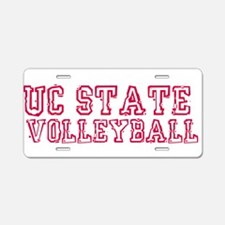 UC State Volleyball Aluminum License Plate