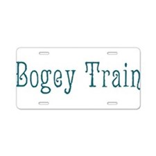 Bogey Train Aluminum License Plate