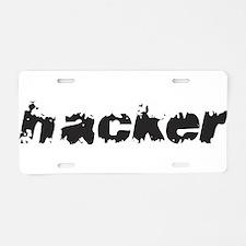 Hacker Aluminum License Plate