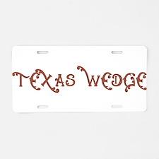 Texas Wedge Aluminum License Plate
