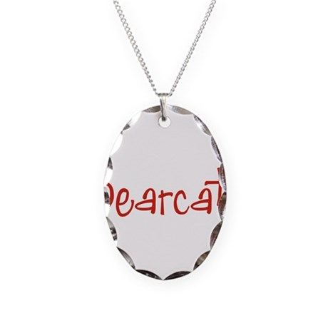 Bearcat Necklace Oval Charm