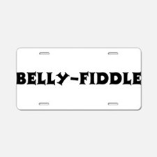 Belly-Fiddle Aluminum License Plate