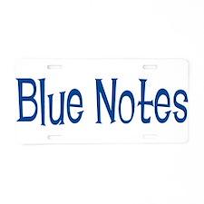 Blue Notes Aluminum License Plate