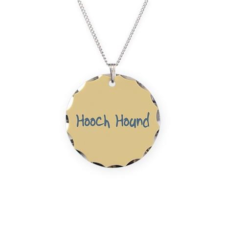 Hooch Hound Necklace Circle Charm