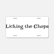 Licking the Chops Aluminum License Plate