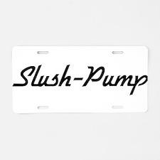Slush-Pump Aluminum License Plate