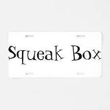 Squeak Box Aluminum License Plate
