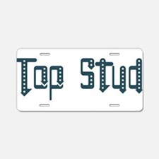 Top Stud Aluminum License Plate