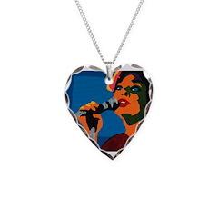 Fine Dinner Necklace Heart Charm