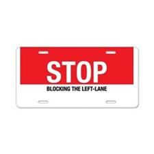 Stop Blocking Aluminum License Plate