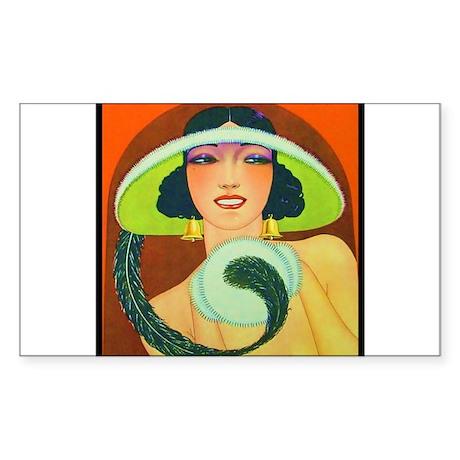 Art Deco Best Seller Sticker (Rectangle)