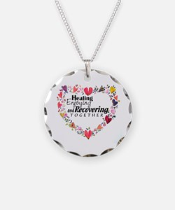 Recovery Valentine Necklace Circle Charm