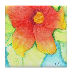 Hibiscus Tile Coaster