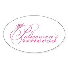 Policeman's Princess Oval Decal