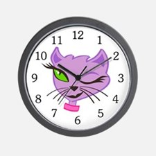 Miss Kitty Wall Clock