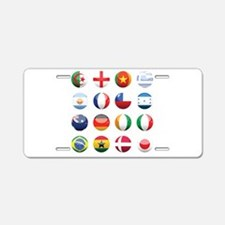 World Cup Soccer Balls Aluminum License Plate