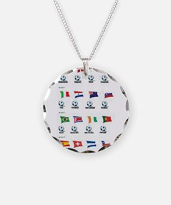 Soccer Balls and Flags Necklace