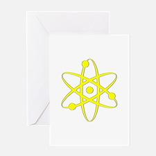 Atom - Yellow Greeting Card