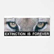 Extinction is Forever Aluminum License Plate