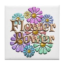 Flower Power Tile Coaster