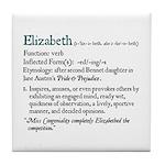 Jane Austen ELIZABETH DEFINITION Tile Coaster