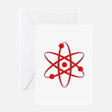 Atom - Red Greeting Card