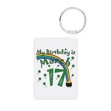 St. Patrick's Day March 17th Birthday Keychains