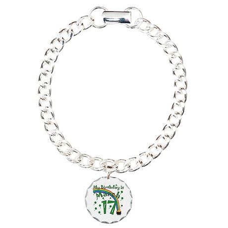 St. Patrick's Day March 17th Birthday Charm Bracel