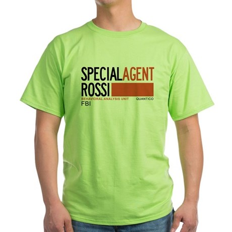 Special Agent Rossi Criminal Minds Green T-Shirt