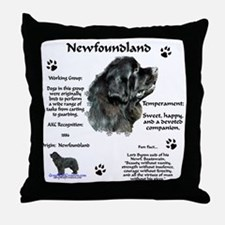Newf 1 Throw Pillow