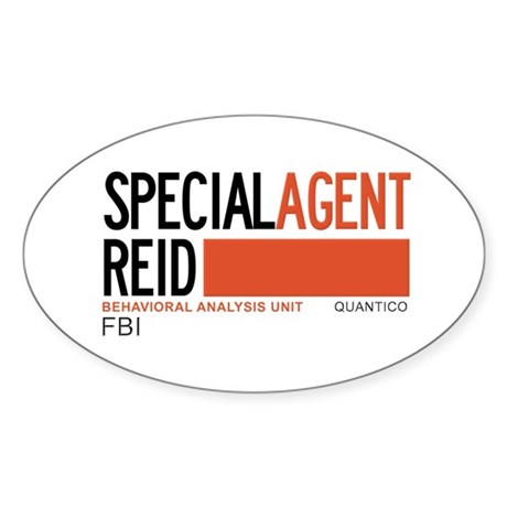 Special Agent Reid Criminal Minds Sticker (Oval)