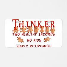 Child-Free Thinker Aluminum License Plate