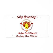 Stop Overpopulation Aluminum License Plate