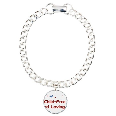 Child-Free Loving It Charm Bracelet, One Charm