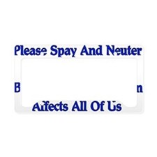 Spay And Neuter License Plate Holder