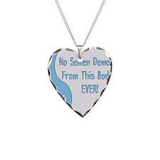 No Semen Demons Necklace Heart Charm