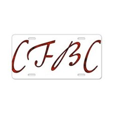 CFBC Red Logo Aluminum License Plate