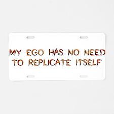 No Breeder Ego Aluminum License Plate