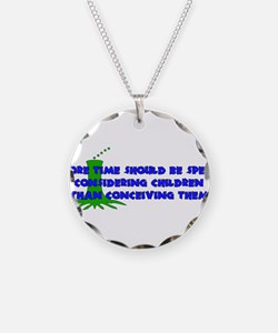 Think More Breed Less Necklace