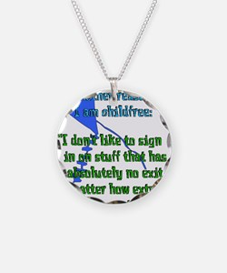 Child-Free Reason Necklace