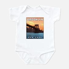Brooklyn Bridge Sunset Infant Creeper