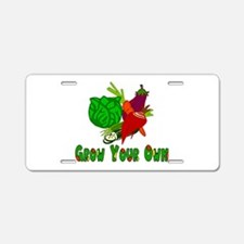 Grow Your Own Aluminum License Plate